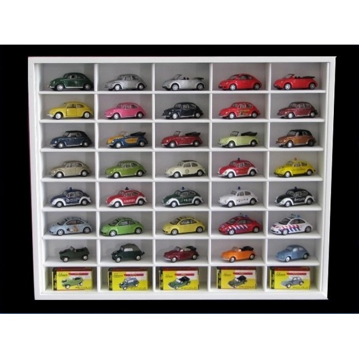 #40 DIECAST DISPLAY CASE - 1:72 [Branco]  - Hobby Lobby CollectorStore