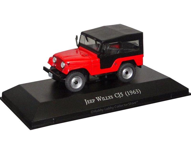 Altaya - Carros Inesquecíveis do Brasil - Willys Jeep CJ5 (1963)