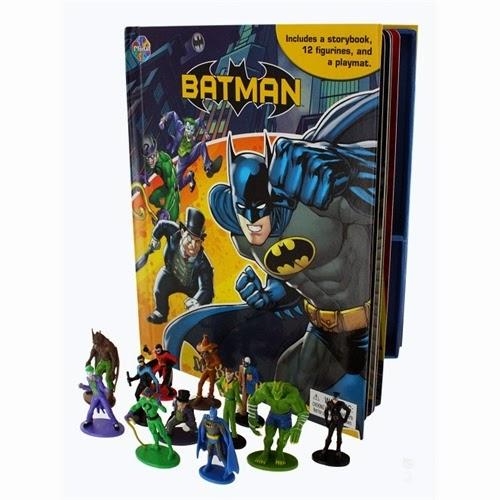 Batman Livro Em Ação Com 12 Personagens + Cenário Interativo