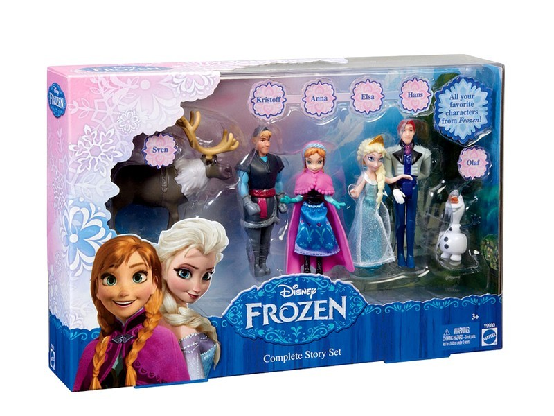 Disney Frozen - Playset 6 personagens do filme - Mattel