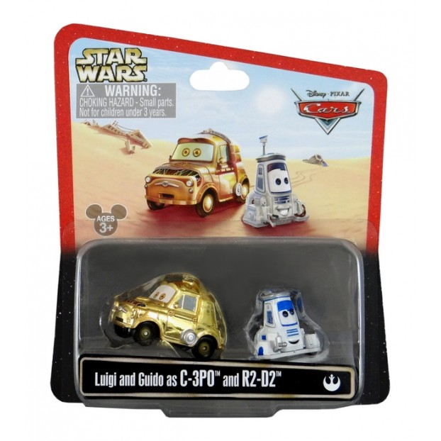 Disney Pixar - Cars - Star Wars - Luigi & Guido as C-3PO and R2-D2