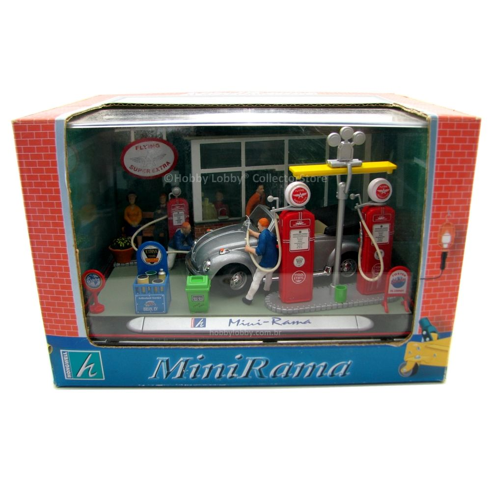 Hongwell - MiniRama Flying Super Extra Gas Station Model Kit