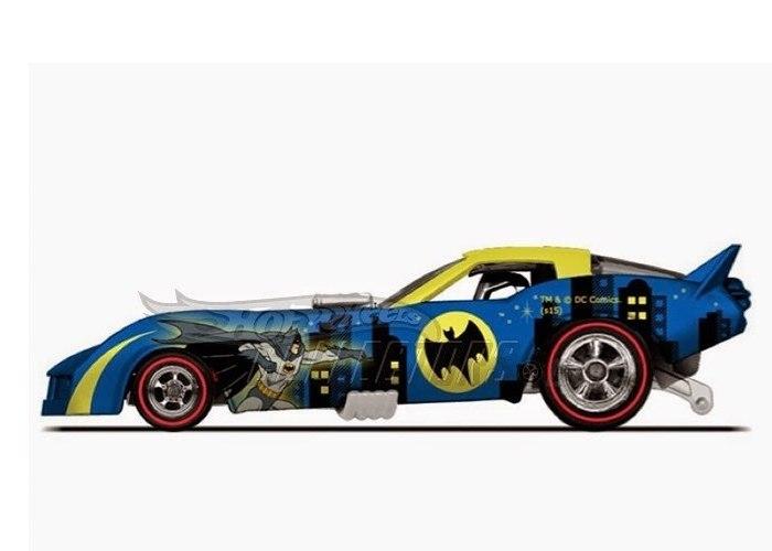 Hot Wheels - 2015 Pop Culture - DC Comics - `78 Corvette Funny Car  - Hobby Lobby CollectorStore