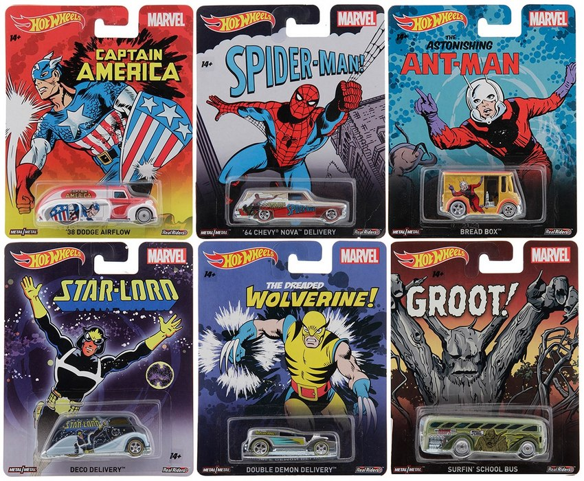 Hot Wheels - 2015 Pop Culture - Marvel - Série Completa
