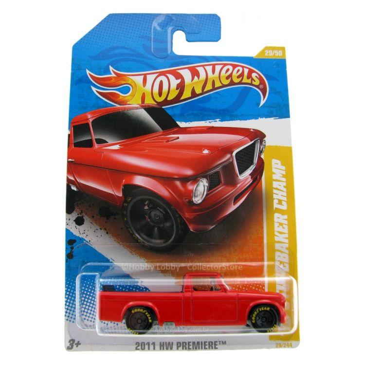 Hot Wheels - Coleção 2011 - ´63 Studebaker Champ [vermelho]