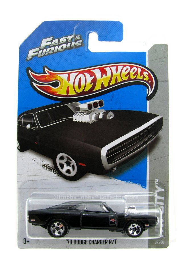 Hot Wheels - Coleção 2013 - Fast & Furious - ´70 Dodge Charger R/T  - Hobby Lobby CollectorStore