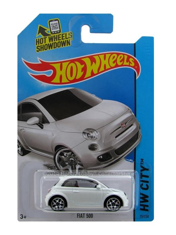 Hot Wheels - Coleção 2014 - Fiat 500 (Branco)