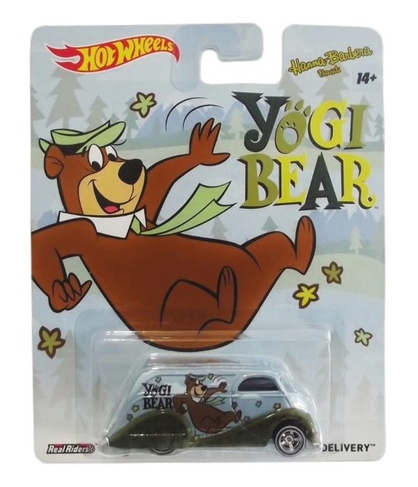 Hot Wheels - Culture Pop 2014 - Hanna-Barbera - Yogi Bear - Deco Delivery  - Hobby Lobby CollectorStore