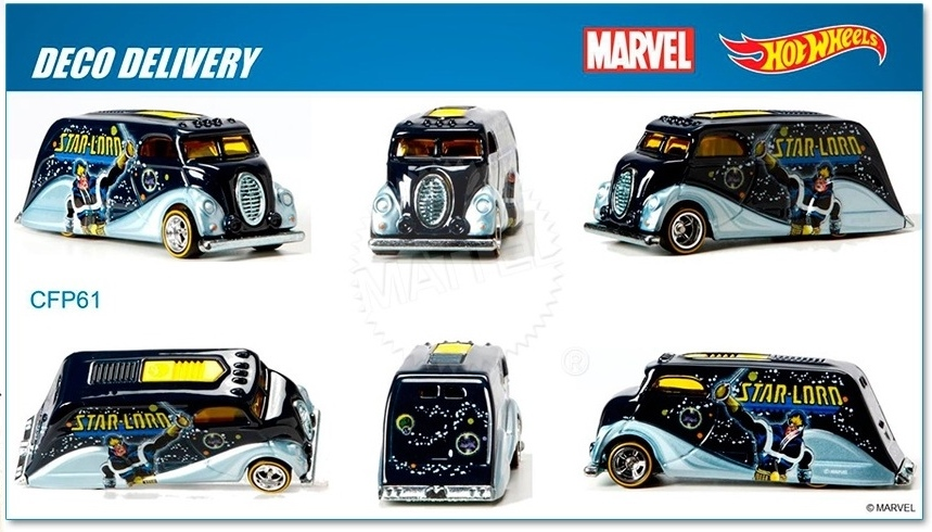 Hot Wheels - 2015 Pop Culture - Marvel - Deco Delivery  - Hobby Lobby CollectorStore