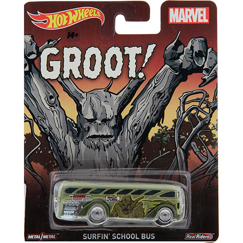 Hot Wheels - 2015 Pop Culture - Marvel -  Surfin` School Bus