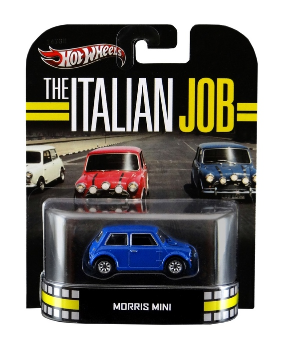 Hot Wheels - Retro Entertainment 2013 - The Italian Job - Morris Mini (azul)  - Hobby Lobby CollectorStore