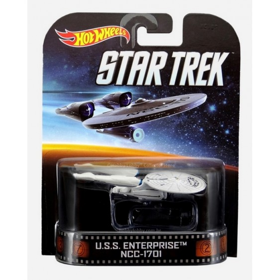 Hot Wheels - Retro Entertainment 2014 - Star Trek - U.S.S. Enterprise NCC-1701  - Hobby Lobby CollectorStore