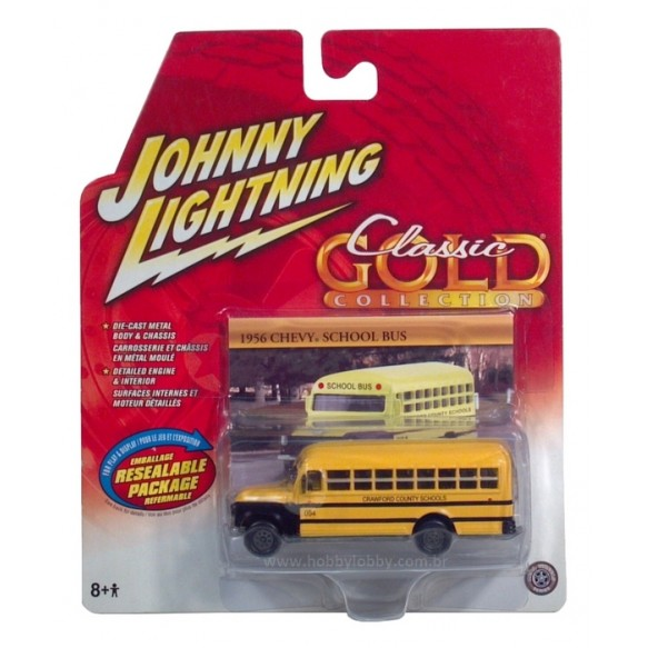 Johnny Lightning - 1956 Chevy School Bus  - Hobby Lobby CollectorStore