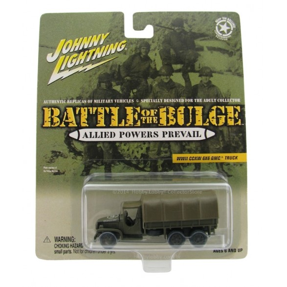 Johnny Lightning - Battle of the Bulge - WWII CCKW 6X6 GMC Truck  - Hobby Lobby CollectorStore