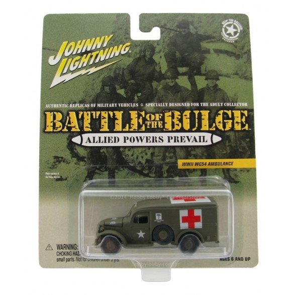 Johnny Lightning - Battle of the Bulge - WWII WC54 Ambulance  - Hobby Lobby CollectorStore
