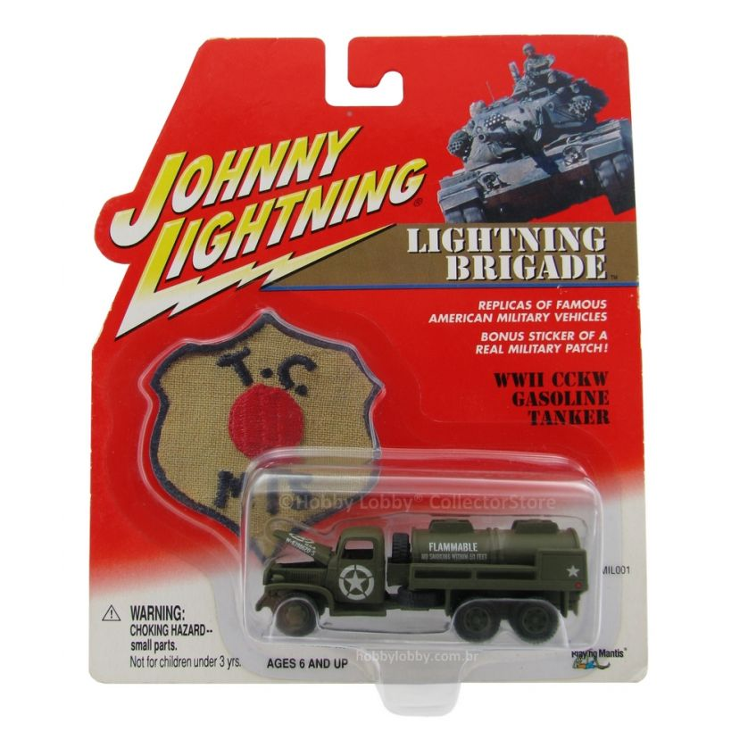 Johnny Lightning - Lightning Brigade - WWII CCKW Gasoline Tanker  - Hobby Lobby CollectorStore