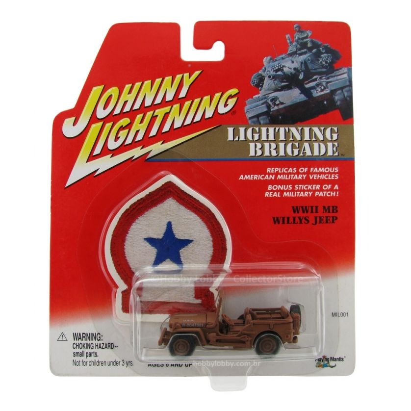 Johnny Lightning - Lightning Brigade - WWII MB Willys Jeep  - Hobby Lobby CollectorStore