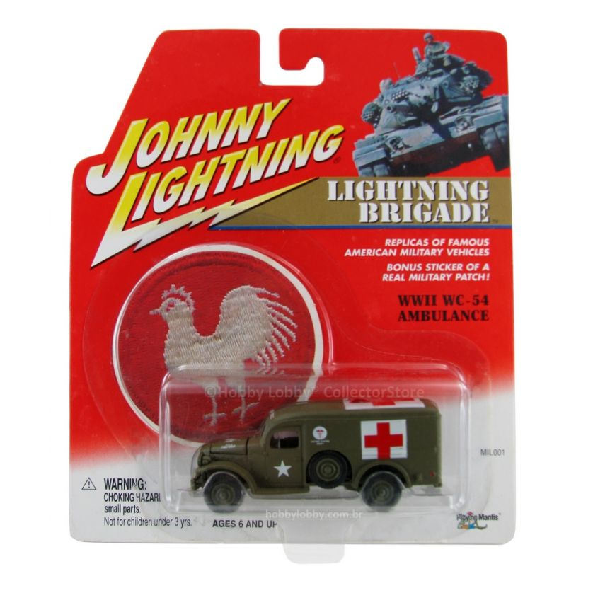 Johnny Lightning - Lightning Brigade - WWII WC-54 Ambulance - Hobby Lobby CollectorStore