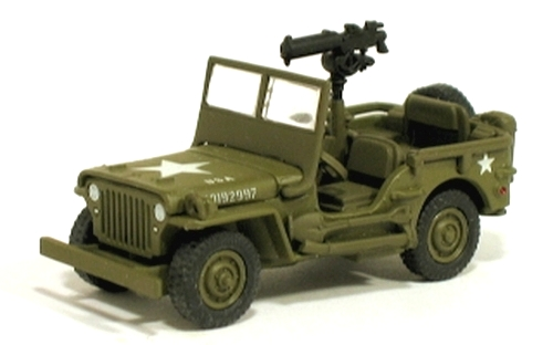 Johnny Lightning - Lightning Brigade - WWII Willys MB Scout Jeep  - Hobby Lobby CollectorStore