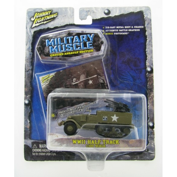 Johnny Lightning - Military Muscle - WWII Half Track  - Hobby Lobby CollectorStore
