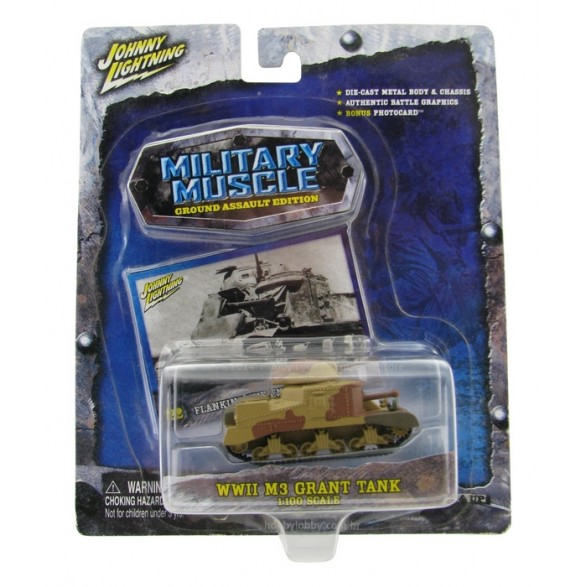 Johnny Lightning - Military Muscle - WWII M3 Grant Tank  - Hobby Lobby CollectorStore
