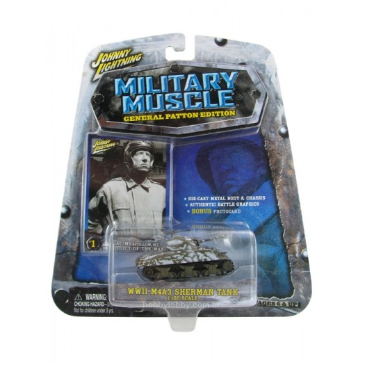 Johnny Lightning - Military Muscle - WWII M4A3 Sherman Tank  - Hobby Lobby CollectorStore