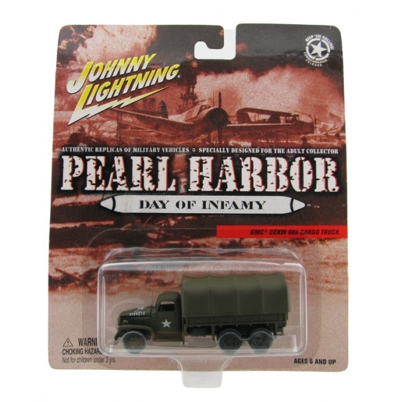 Johnny Lightning - Pearl Harbor - GMC CCKW 6X6 Cargo Truck  - Hobby Lobby CollectorStore