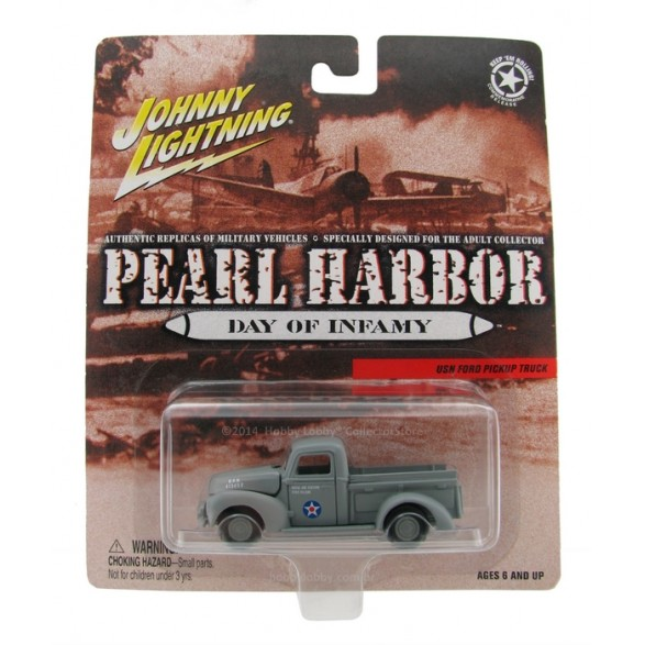 Johnny Lightning - Pearl Harbor - USN Ford Pickup Truck - Hobby Lobby CollectorStore