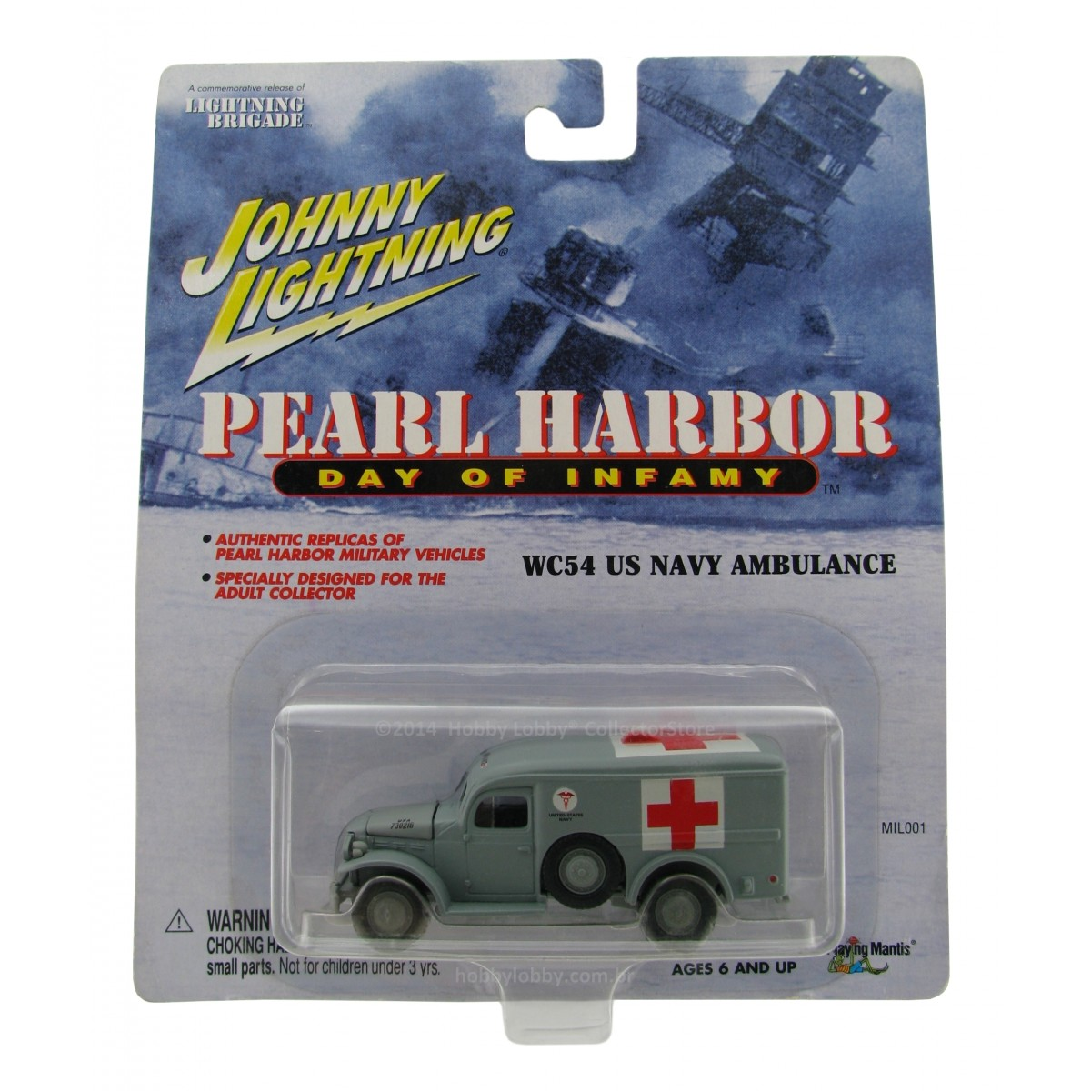 Johnny Lightning - Pearl Harbor - WC54 US Navy Ambulance  - Hobby Lobby CollectorStore