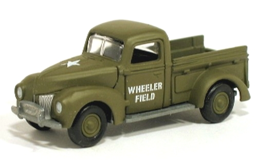 Johnny Lightning - Pearl Harbor - Wheeler Field Army Air Corps - 1940 Ford Pick-up - Hobby Lobby CollectorStore