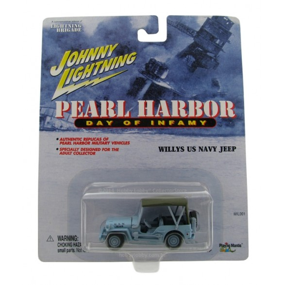 Johnny Lightning - Pearl Harbor - Willys US Navy Jeep  - Hobby Lobby CollectorStore