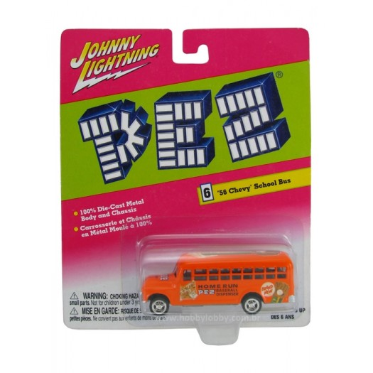 Johnny Lightning - PEZ - ´56 Chevy School Bus