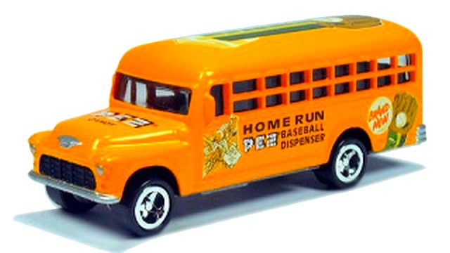 Johnny Lightning - PEZ - ´56 Chevy School Bus  - Hobby Lobby CollectorStore