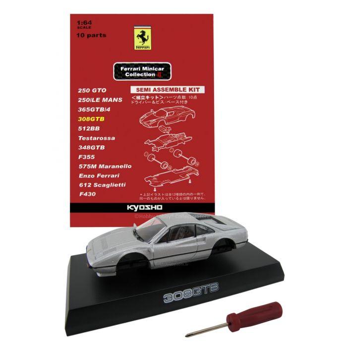 Kyosho - Ferrari Minicar Collection II - Ferrari 308 GTB (cinza)