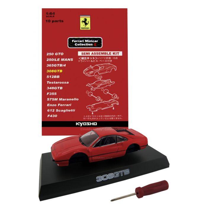 Kyosho - Ferrari Minicar Collection II - Ferrari 308 GTB (vermelha)