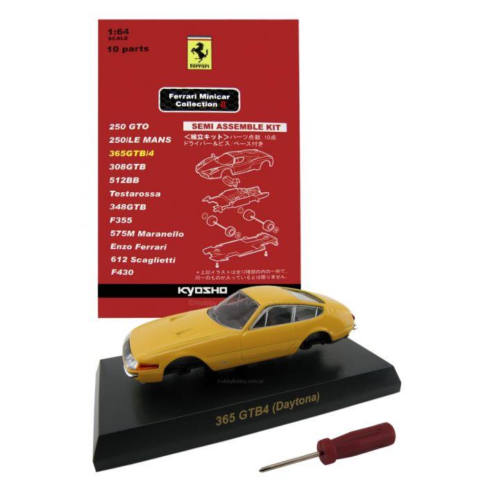Kyosho - Ferrari Minicar Collection II - Ferrari 365GTB/4 Daytona (Amarela)