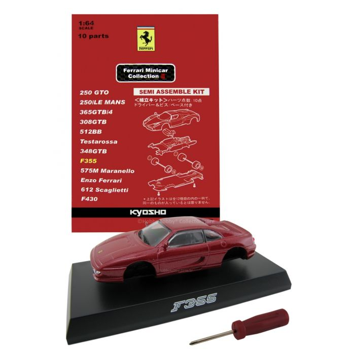 Kyosho - Ferrari Minicar Collection II - Ferrari F355 (vermelho metálico)  - Hobby Lobby CollectorStore