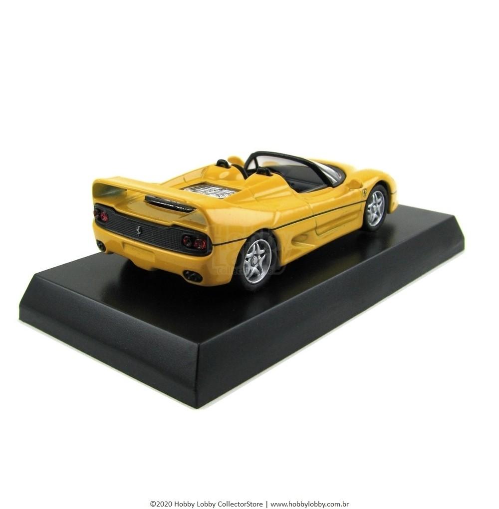 Kyosho - Ferrari Minicar Collection V - Ferrari F50 Spider [amarela]  - Hobby Lobby CollectorStore