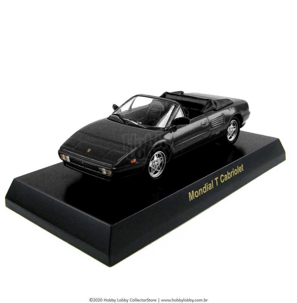 Kyosho - Ferrari Minicar Collection V - Ferrari Mondial T Cabriolet [preta]