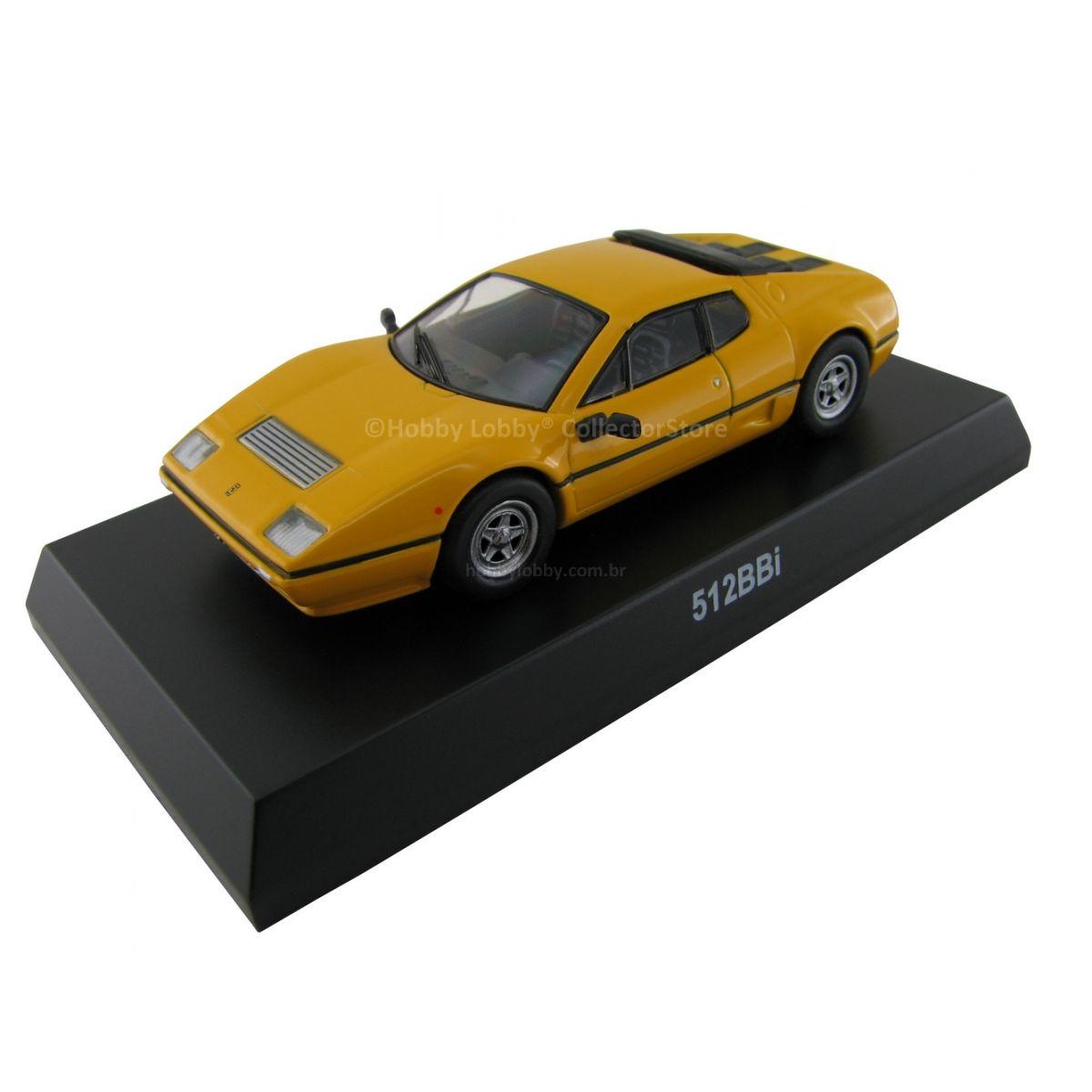 Kyosho - Ferrari Minicar Collection VI - Ferrari 512 BBi [amarela]  - Hobby Lobby CollectorStore