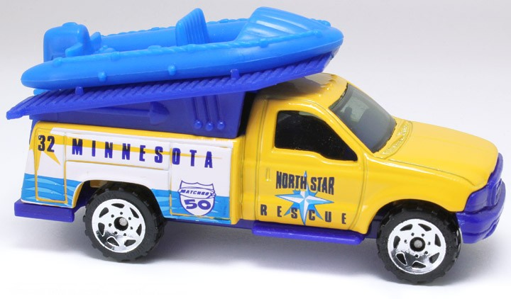 Matchbox - Across America - Minnesota Ford F-Series Fire Truck with Raft  - Hobby Lobby CollectorStore