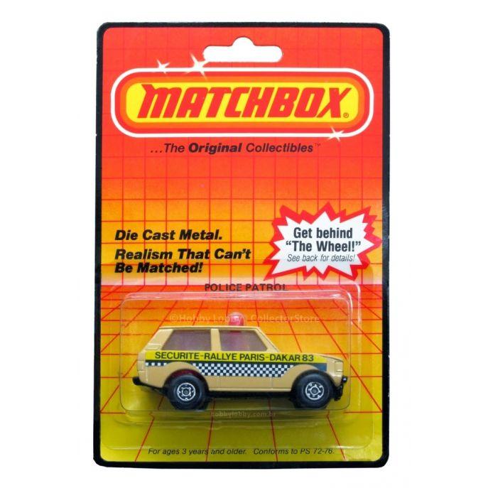 Matchbox - Coleção 1983 - Range Rover - Police Patrol
