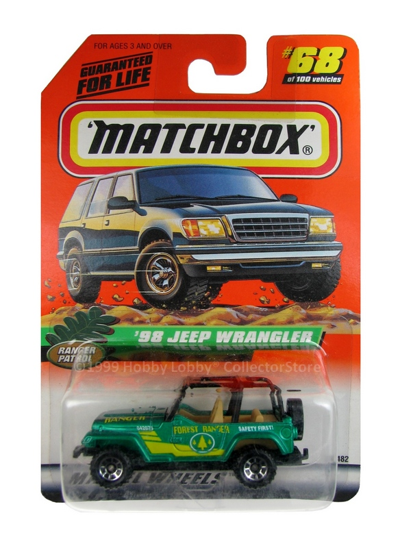 Matchbox - Coleção 1999 - ´98 Jeep Wrangler