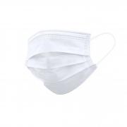 Máscara Branca Descartável - Triplas TNT com Elástico e Clip Nasal - Protdesc - Acima de 50 unidades