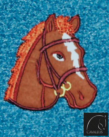Aplique Bordado em Tecido Cara Cavalo