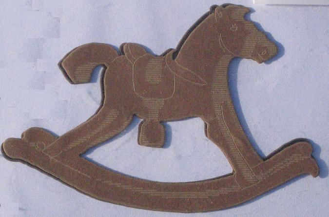 Apliques Artesanais Cavalo-de-Pau