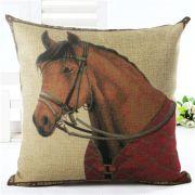 Capa de Almofada cavalo tordilho capa vermelha
