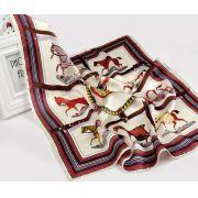 lenço seda cavalos com capa