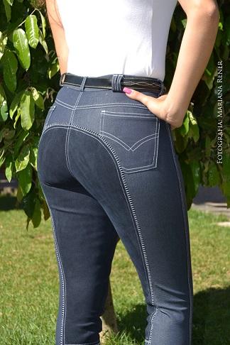 Culote Dressur by Cavallus Feminino Full Seat Jeans Bolso Tradicional