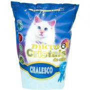 Areia Higiênica Chalesco com Micro Cristais de Sílica para Gatos - 1,8kg